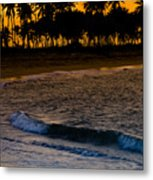 Sunset At The Beach Metal Print by Sebastian Musial