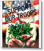 Support Our Troops Metal Print by Ernestine Grindal