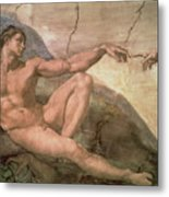 The Creation Of Adam Metal Print by Michelangelo Buonarroti