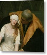 The Execution Of Lady Jane Grey Metal Print by Hippolyte Delaroche