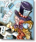 The Mad Hatter Metal Print by Lucia Stewart