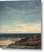 The Sea Metal Print by Gustave Courbet
