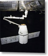 The Spacex Dragon Cargo Craft Prior Metal Print by Stocktrek Images