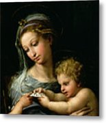 The Virgin Of The Rose Metal Print by Raphael