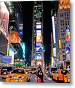 Times Square Metal Print by June Marie Sobrito