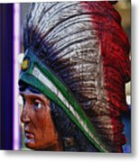 Tobacco Store Indian Metal Print by Robert Ullmann