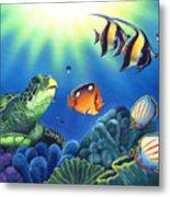 Turtle Dreams Metal Print by Angie Hamlin