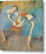 Two Dancers At Rest Metal Print by Edgar Degas