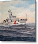 U. S. Coast Guard Cutter Monsoon Metal Print by William H RaVell III