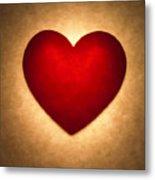 Valentine Heart Metal Print by Tony Cordoza