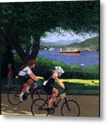 Vancouver Bike Ride Poster Metal Print by Neil Woodward