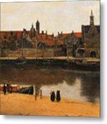 View Of Delft Metal Print by Jan Vermeer