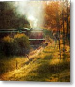 Vintage Diesel Locomotive Metal Print by Jill Battaglia