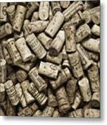 Vintage Wine Corks Metal Print by Frank Tschakert