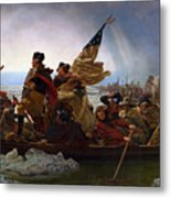 Washington Crossing The Delaware Metal Print by Emanuel Leutze
