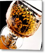 Whiskey In Glass Metal Print by Blink Images