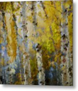 Yellow Aspens Metal Print by Marilyn Sholin