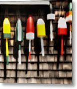 11 Buoys In A Row Metal Print by Thomas Schoeller