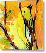 16 Birds No 1 Metal Print by Jennifer Lommers