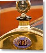 1913 Fiat Type 56 7 Passenger Touring Hood Ornament Metal Print by Jill Reger