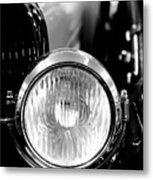 1925 Lincoln Town Car Headlight Metal Print by Sebastian Musial