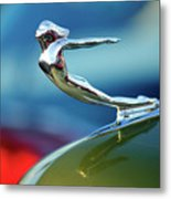 1936 Cadillac Hood Ornament 2 Metal Print by Jill Reger