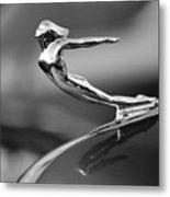 1936 Cadillac Hood Ornament 3 Metal Print by Jill Reger