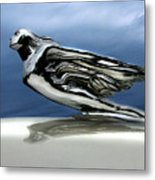 1941 Cadillac Emblem Abstract Metal Print by Peter Piatt
