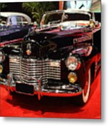 1941 Cadillac Series 62 Convertible Coupe . Front Angle Metal Print by Wingsdomain Art and Photography