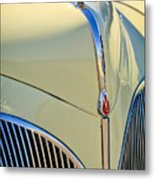 1941 Lincoln Continental Cabriolet V12 Grille Metal Print by Jill Reger
