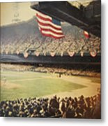 1950 Phillies Vs Yankees World Series Guide Metal Print by Bill Cannon