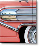 1958 Buick Side Chrome Bullet Metal Print by David Kyte