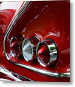 1958 Impala Tail Lights Metal Print by Paul Ward