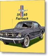 1965 Mustang Fastback Metal Print by Jack Pumphrey