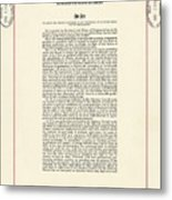 1965 Voting Rights Act. The Full Title Metal Print by Everett
