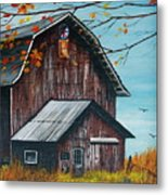 1980 Barn Metal Print by Linda Simon