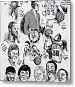 1984 Boston Celtics Championship Newspaper Poster Metal Print by Dave Olsen