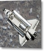 Aerial View Of Space Shuttle Discovery Metal Print by Stocktrek Images
