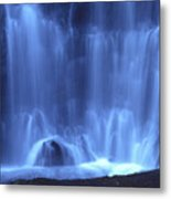 Blue Waterfall Metal Print by Bernard Jaubert
