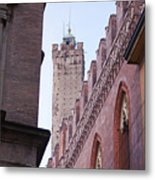 Bologna Tower Metal Print by Andre Goncalves