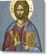 Christ Pantokrator Metal Print by Julia Bridget Hayes