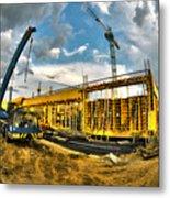 Construction Site Metal Print by Jaroslaw Grudzinski