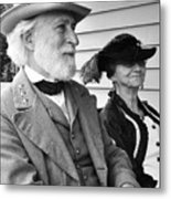General Lee And Mary Custis Lee Metal Print by Thomas R Fletcher