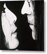 Lennon And Yoko Metal Print by Ashley Price
