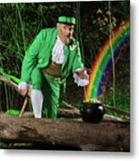 Leprechaun With Pot Of Gold Metal Print by Oleksiy Maksymenko