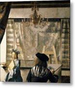 The Artist's Studio Metal Print by Jan Vermeer