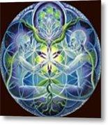 The Flowering Of Divine Unification Metal Print by Morgan  Mandala Manley