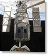 The Hubble Space Telescope Is Released Metal Print by Stocktrek Images