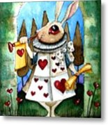 The White Rabbit Metal Print by Lucia Stewart