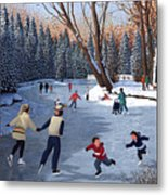 Winter Fun At Bowness Park Metal Print by Neil Woodward